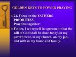 golden keys to power praying25