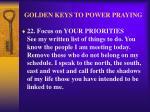 golden keys to power praying26