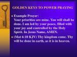 golden keys to power praying28