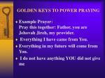 golden keys to power praying29