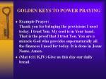 golden keys to power praying30