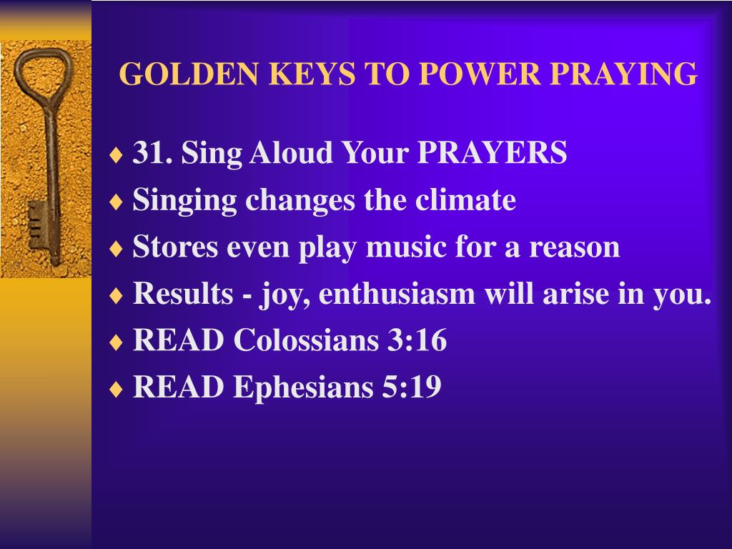 GOLDEN KEYS TO POWER PRAYING