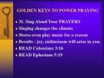 golden keys to power praying40