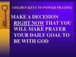 golden keys to power praying43