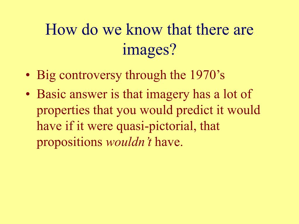 How do we know that there are images?
