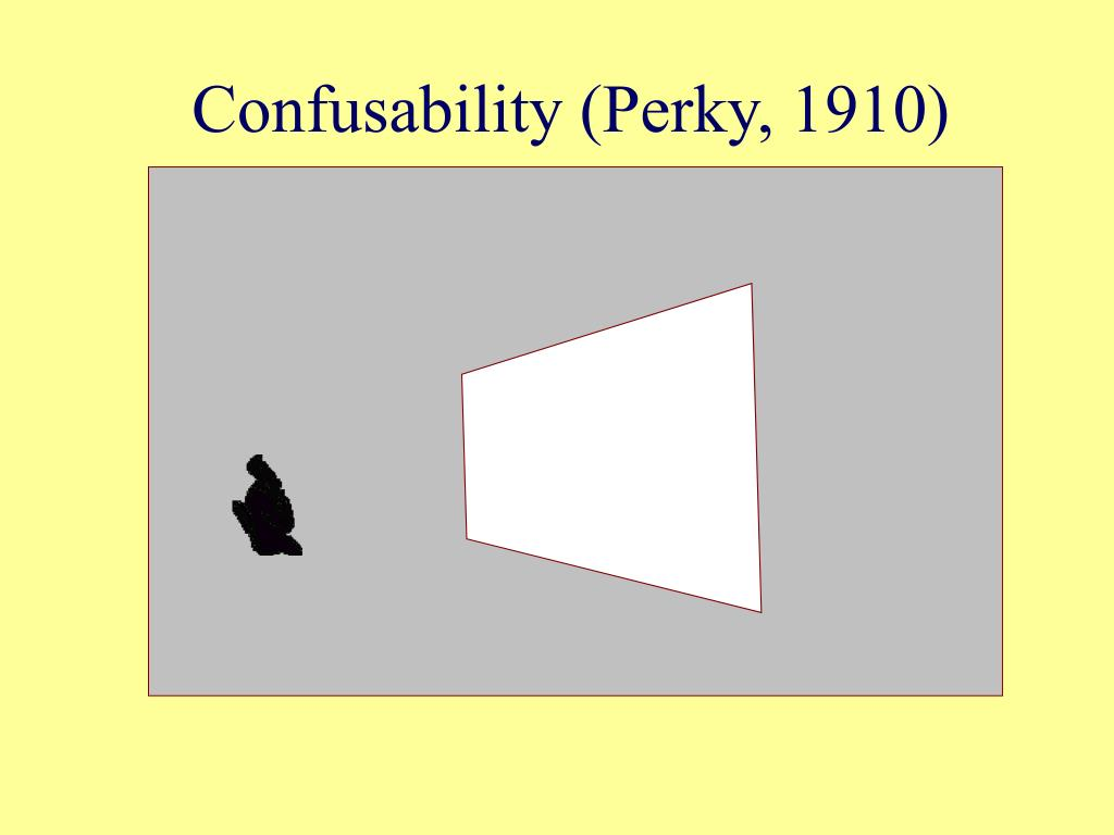 Confusability (Perky, 1910)