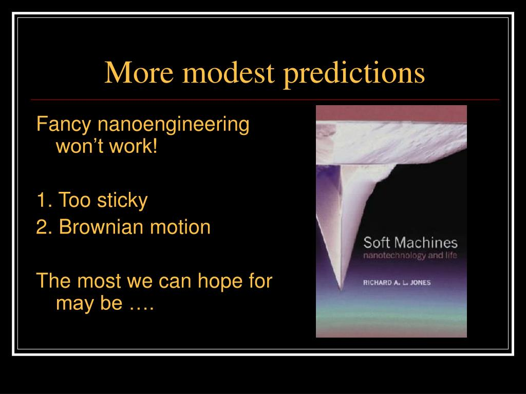 More modest predictions