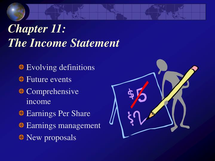 Chapter 11 the income statement