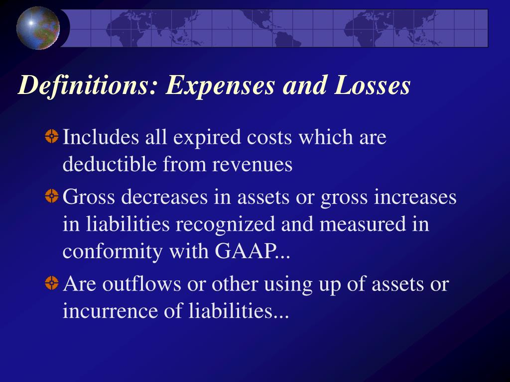 Definitions: Expenses and Losses