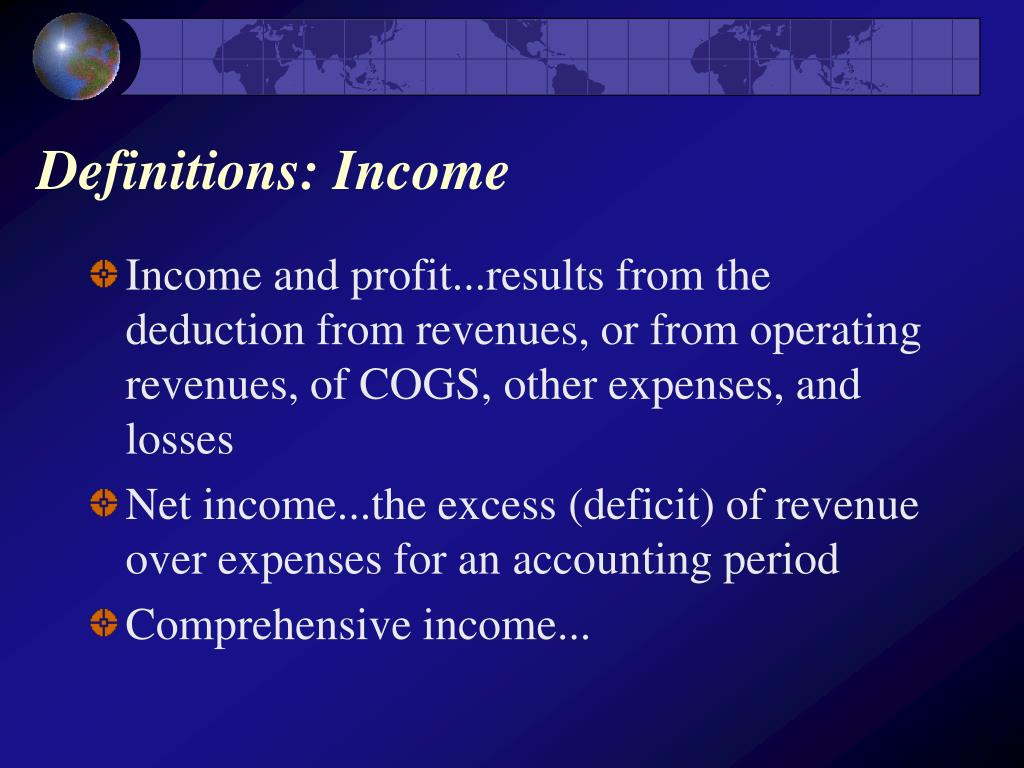Definitions: Income
