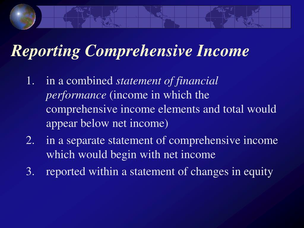Reporting Comprehensive Income