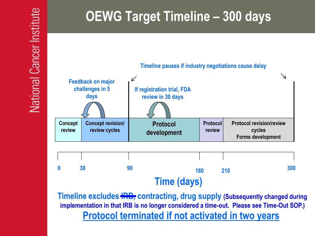 OEWG Target Timeline – 300 days
