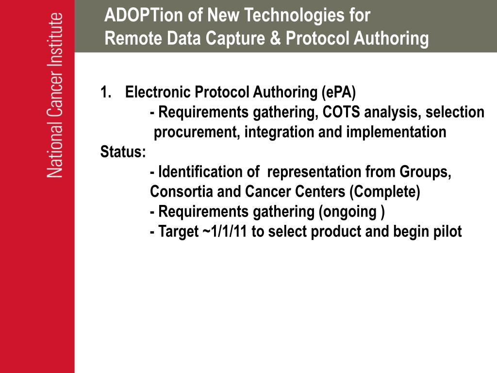 ADOPTion of New Technologies for