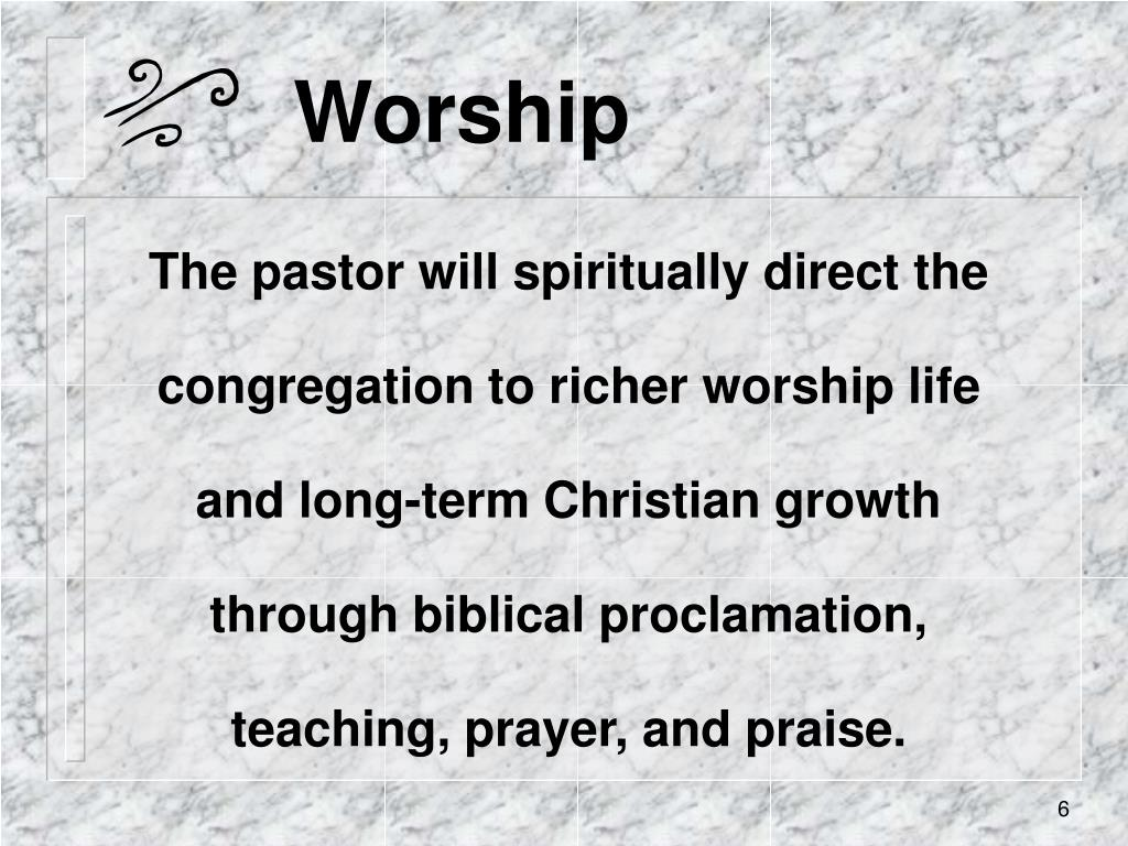 the role of pastor in church growth Executive pastor job description - general description the executive pastor is responsible for the overall leadership and direction of church staff, leading all functional areas in the.