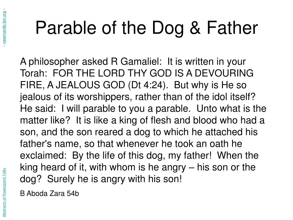 Parable of the Dog & Father