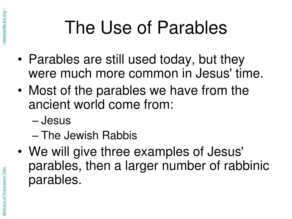 The Use of Parables