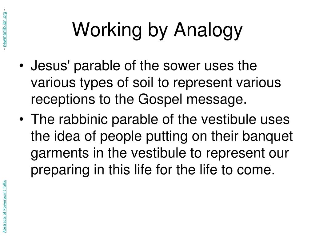 Working by Analogy