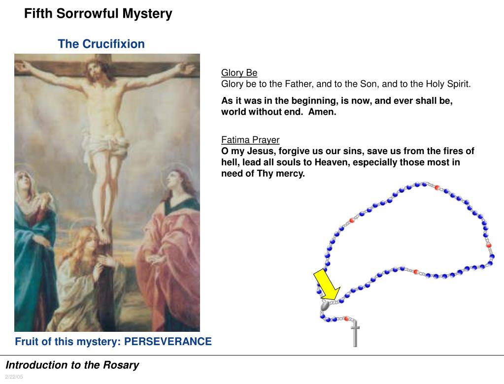Fifth Sorrowful Mystery