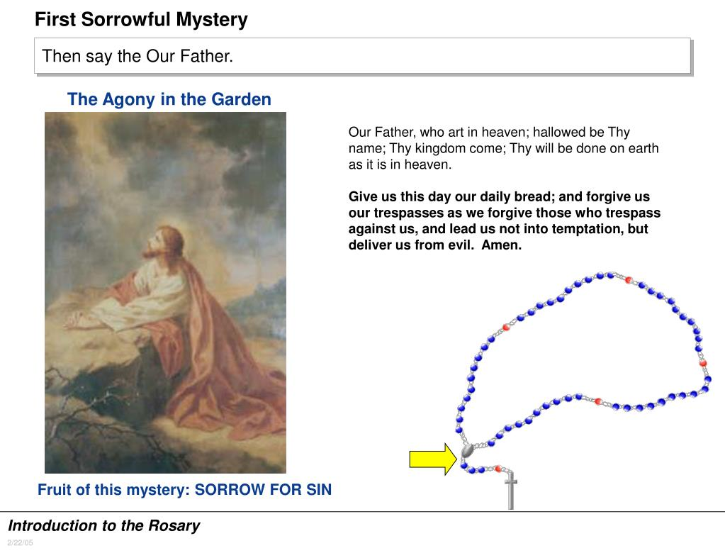 First Sorrowful Mystery