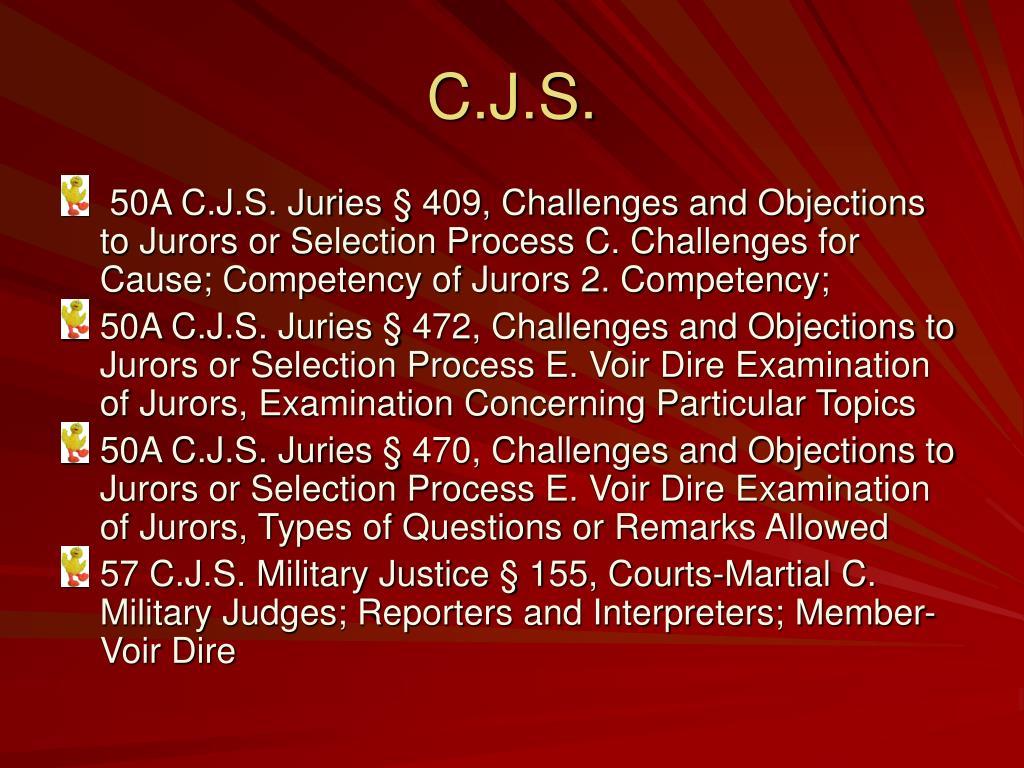 C.J.S.