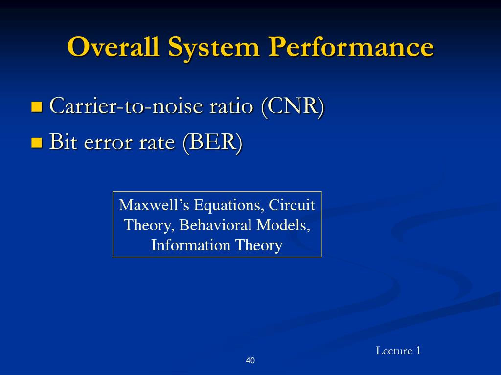 Overall System Performance
