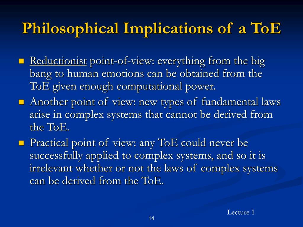 Philosophical Implications of a ToE