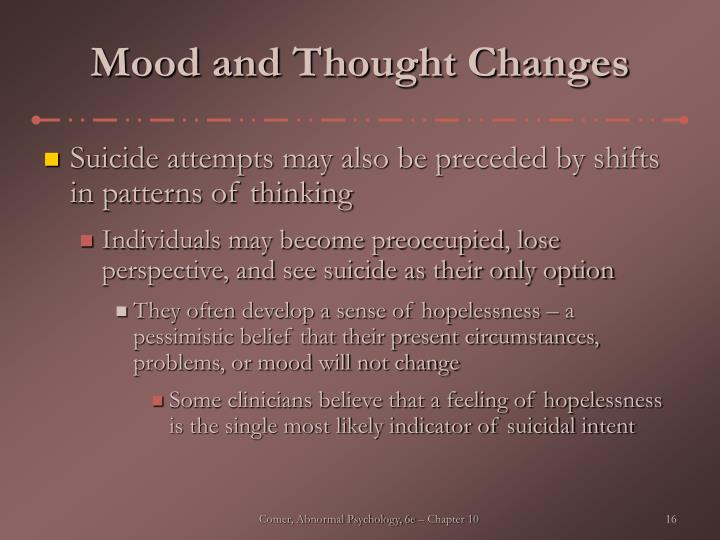 Mood and Thought Changes