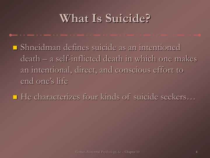 What Is Suicide?