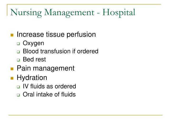 Nursing Management - Hospital