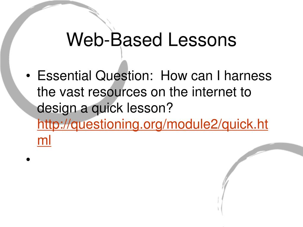 Web-Based Lessons