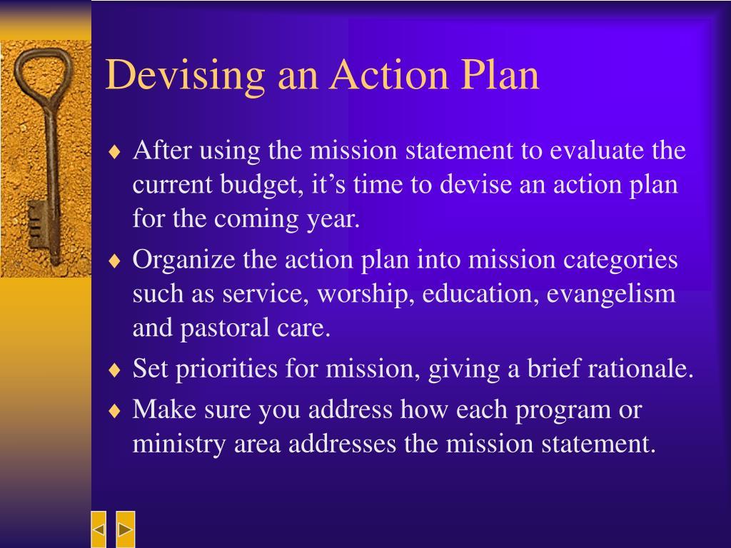 Devising an Action Plan