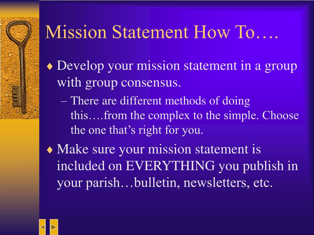 Mission Statement How To….
