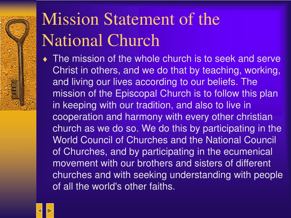 Mission Statement of the National Church