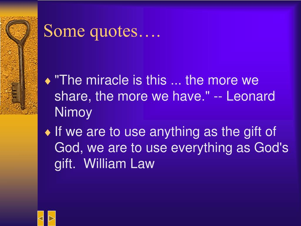 Some quotes….
