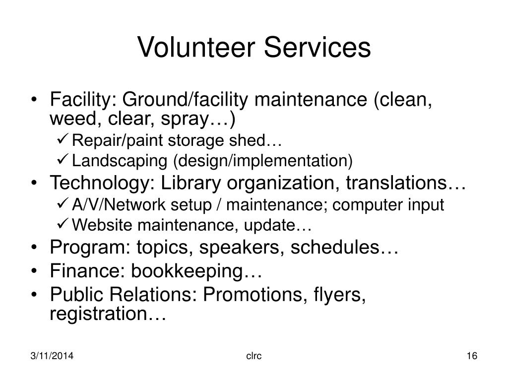 Volunteer Services