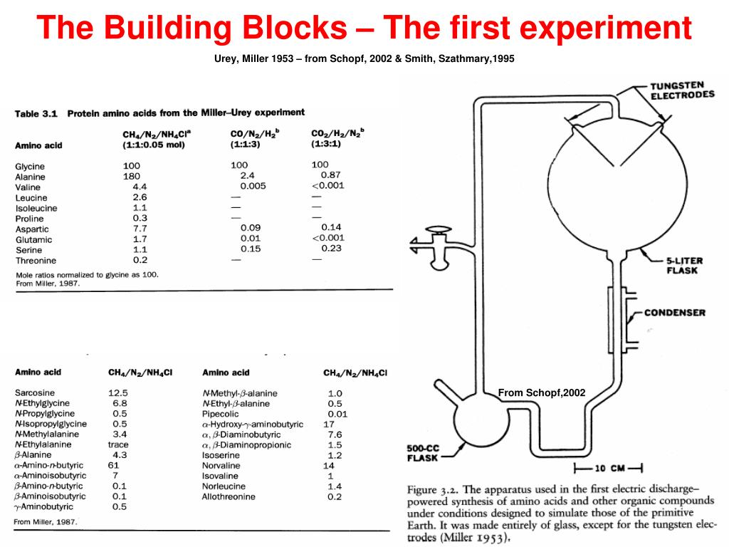 The Building Blocks – The first experiment