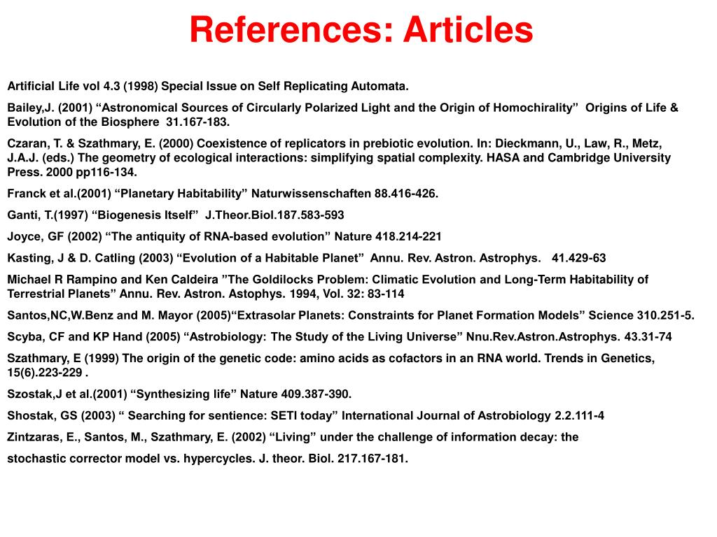 References: Articles