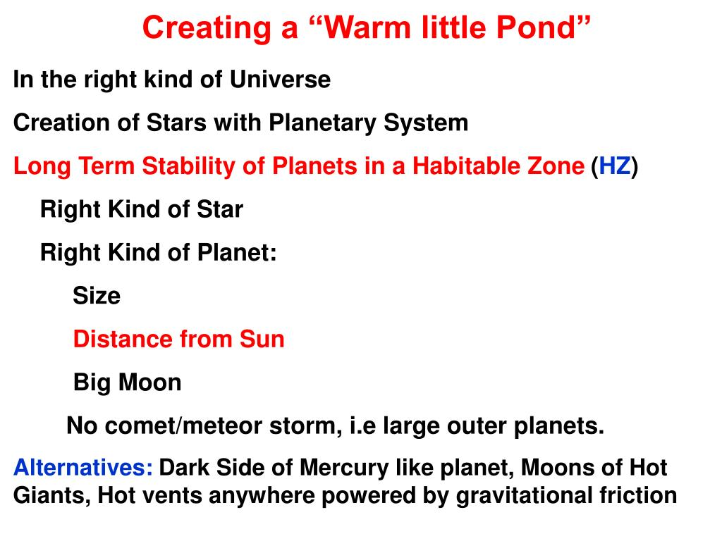"Creating a ""Warm little Pond"""