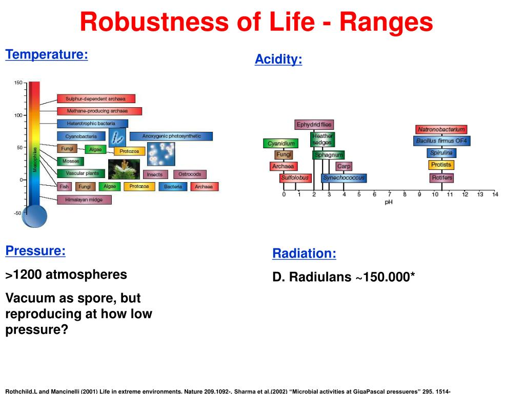 Robustness of Life - Ranges
