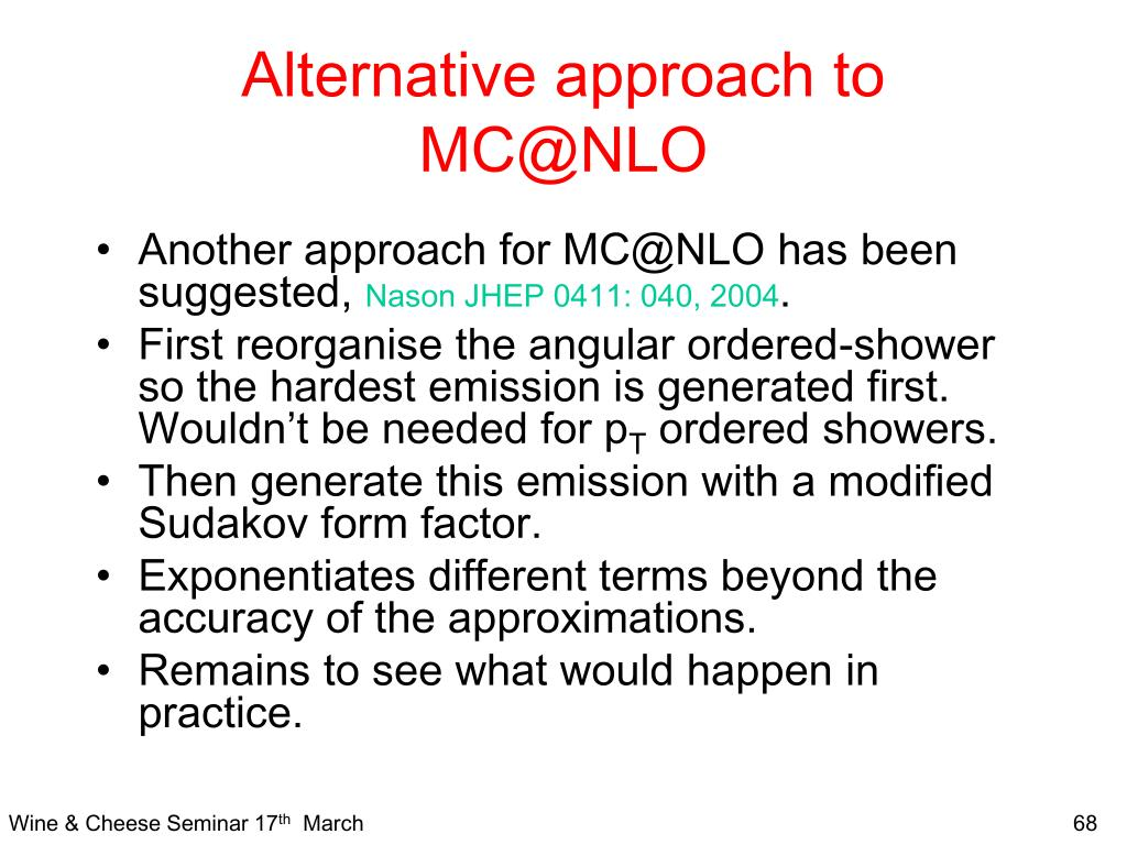 Alternative approach to MC@NLO