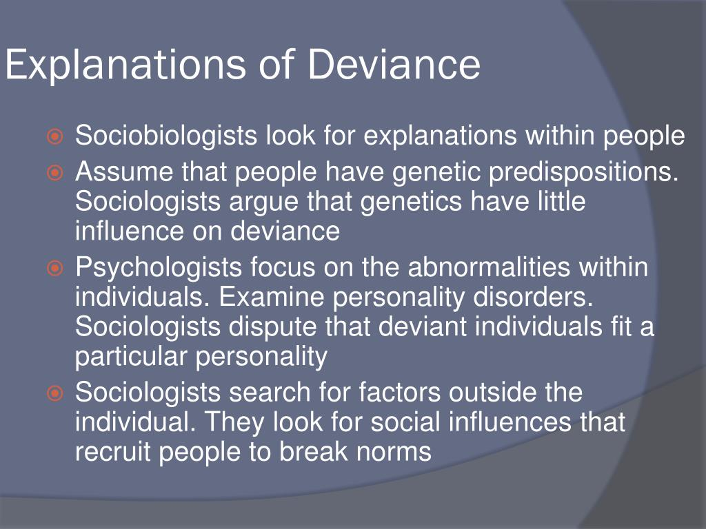 Explanations of Deviance