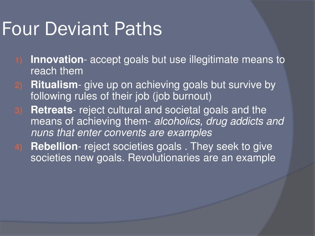 Four Deviant Paths