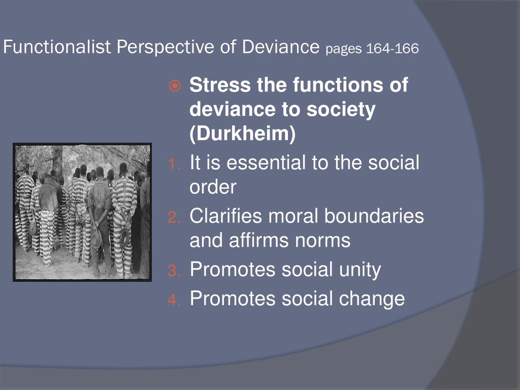 Functionalist Perspective of Deviance
