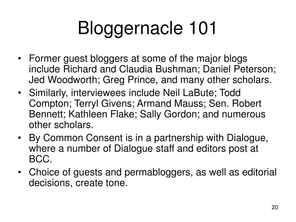 Bloggernacle 101