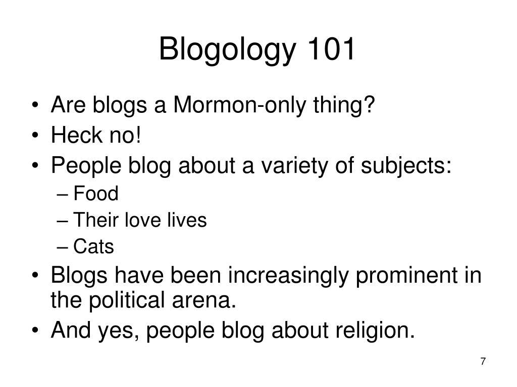 Blogology 101