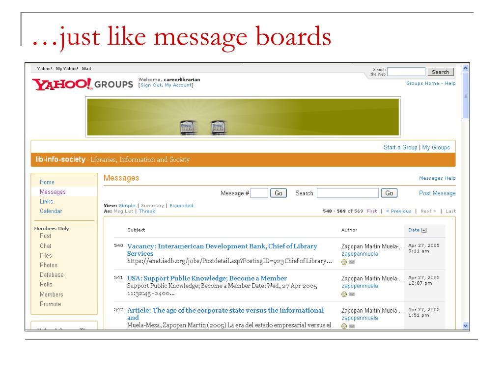…just like message boards