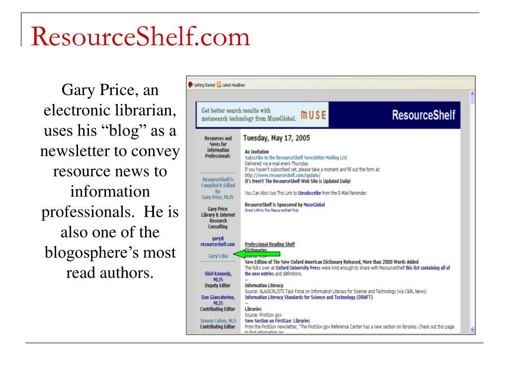 ResourceShelf.com