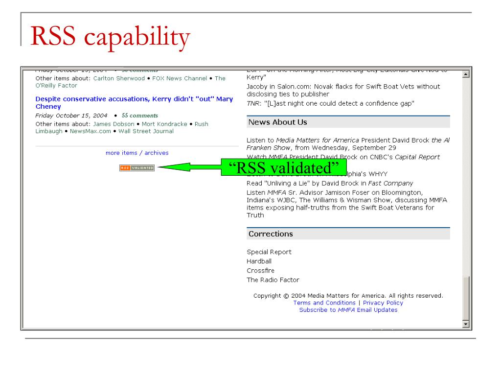 RSS capability