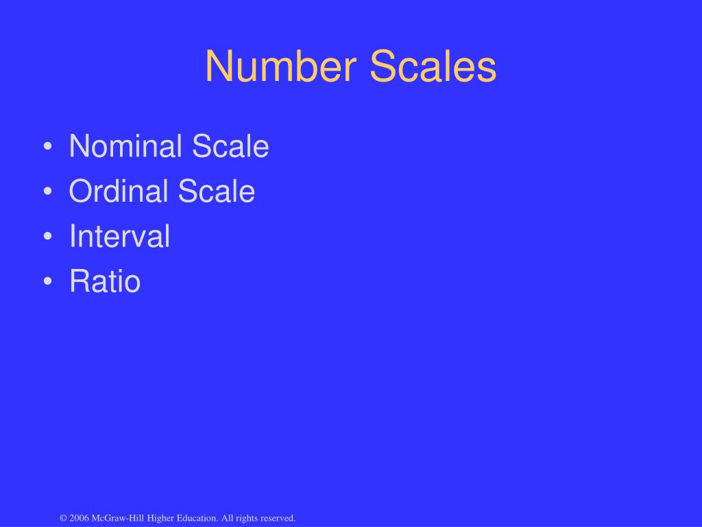 Number Scales