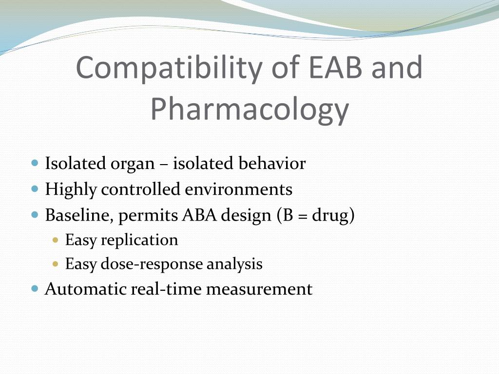 Compatibility of EAB and Pharmacology